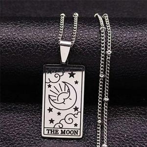 Moon Tarot Card Necklace